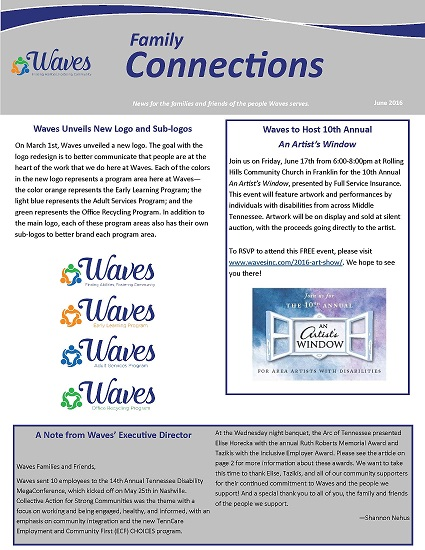Pages from Family Connections - June 2016